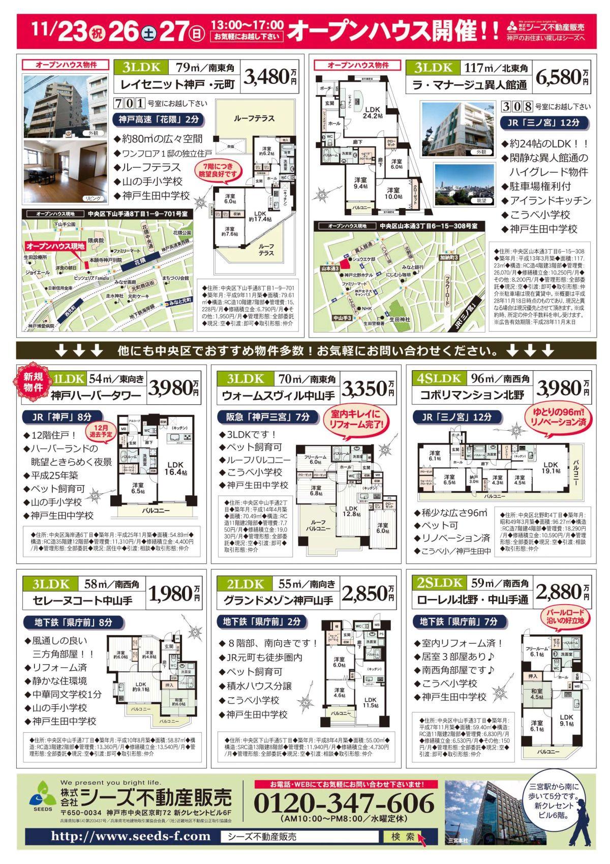 11月23日・26日本社折込オモテB4カラー(レイセ